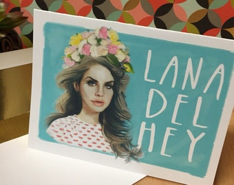 Lana del rey art handmade designed greeting card w gold lined lana del rey art handmade designed greeting card w gold lined envelope bookmarktalkfo Image collections
