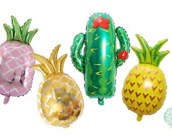 """27"""" Cactus Balloon - Pineapple Ballon - Pink Pineapple Ballon - Gold Pineapple Balloon"""