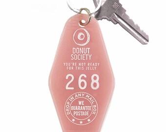 Donut Society Key Tag - Pink