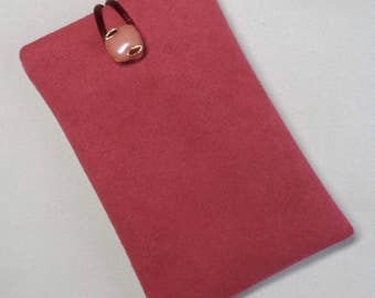 Handmade iPod nano 7th and 8th generation pouch. Salmon Pink.