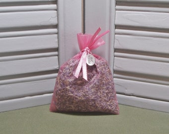 """Sachet, lavender, dried lavender, best friends, birthday gift, party favor, Gift for her, friends charm, 3"""" by 4"""" rose pink organza bag"""