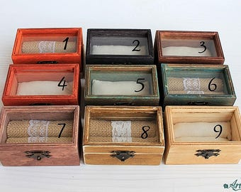 wedding box, ring bearer box, wooden jewelry box, ring box, Walnut ring box, wedding box, ring bearer box, ring box, rustic box, retro box