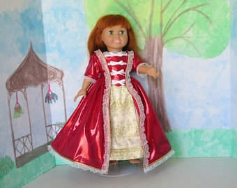 Two piece gown with under clothes for 18 inch doll