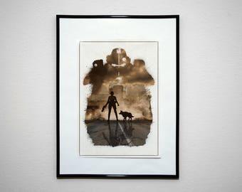 The Sole Survivor. Minimalist Video Game Print Poster.