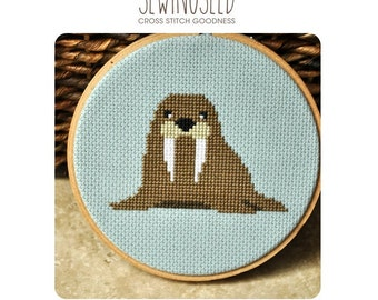 Walrus Cross Stitch Pattern Instant Download