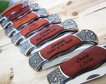 Set of 5 Groomsmen Knife