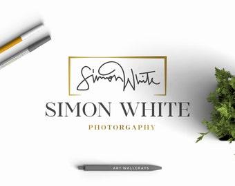 Your Signature Logo, Initial Pre made logo, Hand drawn logo, Photography logo