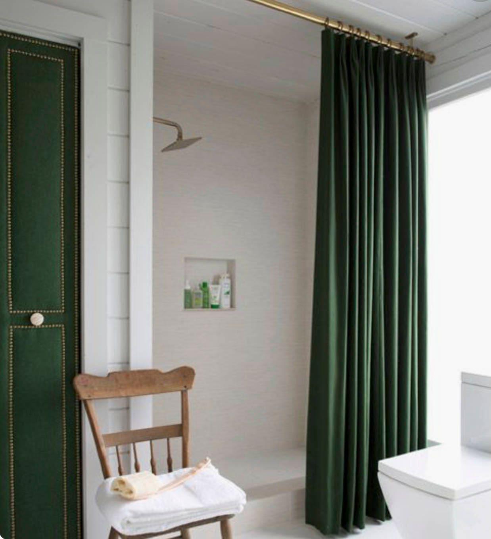 Velvet Shower Curtain Green Velvet shower curtain Navy Velvet