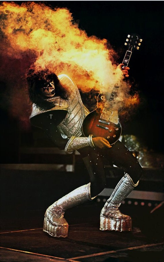 Kiss Ace Frehley Alive Ii Era Poster Stand Up Display Rock