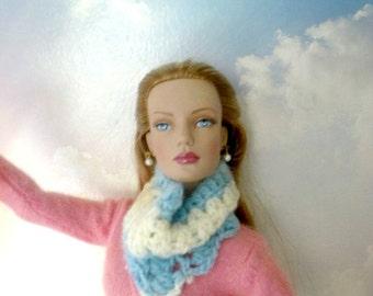 SALE 50 off/Vintage Doll Scarf crochet for 16 inch / Tonner Tyler Wentworth Sydney Gene Ellowyne BJD MSD Art Doll clothes