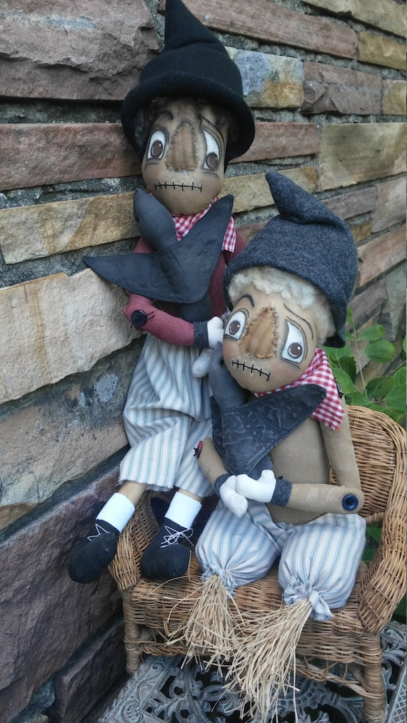 Primitive Fall Scarecrow pattern Crow Lover-pdf pattern