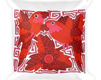 Parrots - Square Pillow