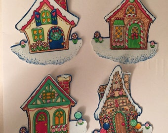Christmas Candy Houses- Iron On Fabric Appliques - Mary Engelbreit