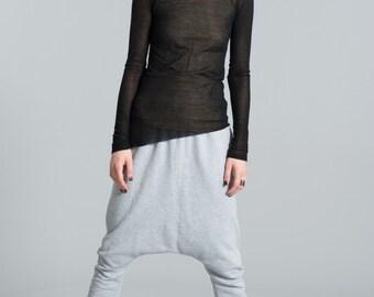 Harem Pants / Drop Crotch Pants / Stylish Sweat Pants / Black Pants / Loose Pants / Yoga Pants / Marcellamoda -  MP0372