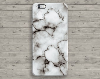 Marble iPhone 7 Case, White iPhone 7 plus Case, Gray iPhone 6S case, iPhone 6 Case, iPhone 6S Plus, 4 4S 5 5S 5C SE Cool Granite Tough