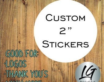 Custom Stickers -Custom Labels - Product Labels - Personalized Labels - Custom Circle Stickers