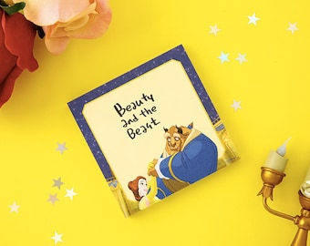 Disney Princess Memo pad / 6type, 4princess[Beauty and the Beast, Cinderella, Snow White, Little Mermaid] / M-06 / 1683251