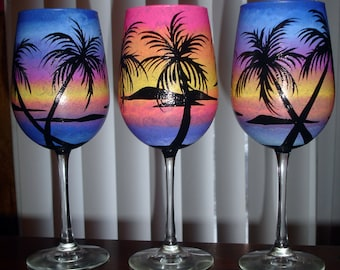 1 Tropical wine glass