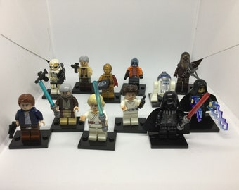 Star Wars New Hope Han Leia Luke Darth Cherie Obi collection 12 pc or pick any 3 some models build of LEGO® bricks limited edition set