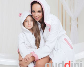 Cotton Robe - Robes - Cotton Robes - Custom Kimono Robe - Bridesmaids Robe - Bath Robe - Cotton Robe