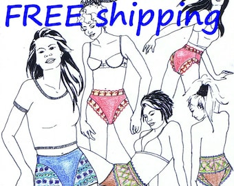 PANTY Pattern SH20 for Brief & Lace Boxer FREE Shipping by Merckwaerdigh