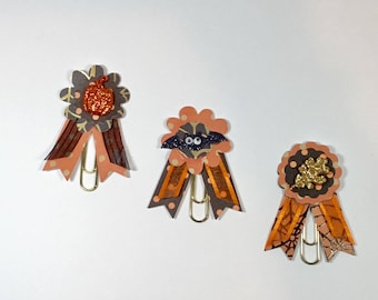 Halloween Paper Clip Planner Bookmarks