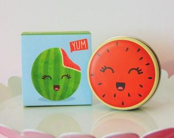 Super Cute Yummy Watermelon Flavored Lip Balm Tin
