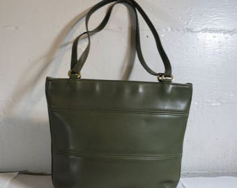 Coach Bag OLIVE leather Long Handles