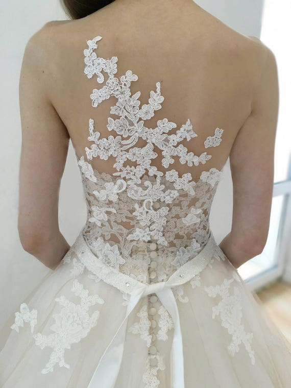 Wedding Dress Jeneva Wedding Dress Lace Back Wedding Dress