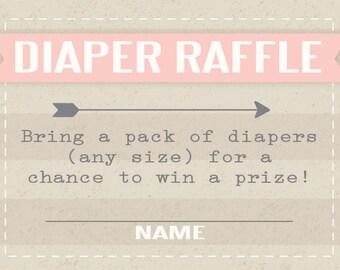 Diaper Raffle Pink Banner