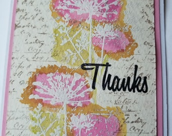Gift, Homemade Card, Handmade Card, Note Card, Thank You Card, All Occasion ,Greeting Card, Cards With Envelopes