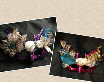 Mardi Gras Purple & Pink Mermaid Mask two designs