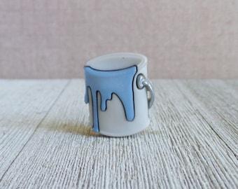 Blue Paint - Bucket of Paint - Painter - Remodel - House - Lapel Pin