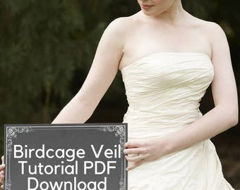 Birdcage Veil Tutorial PDF Tutorial -  - Make Your Own Blusher Veil