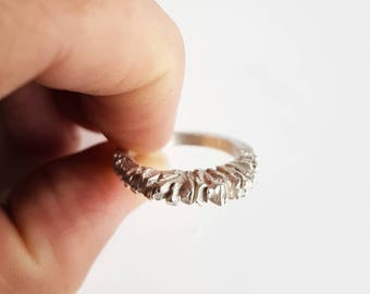 Statement faceted ring in sterling silver