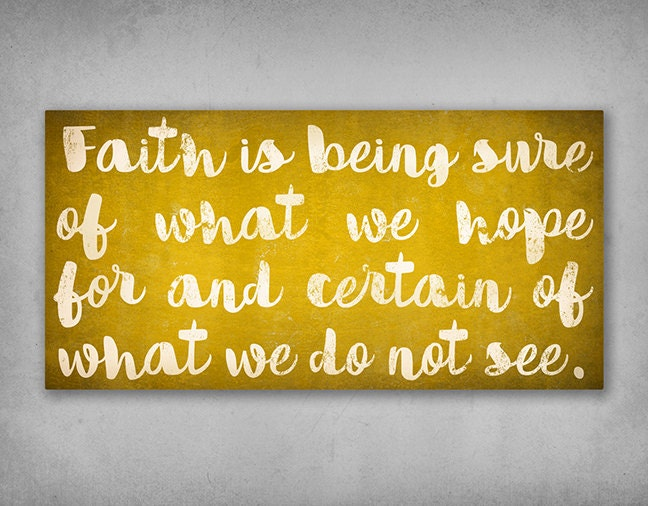 FAITH Canvas Wall Art Text Sign Wall Art 1.5 inch Stretched