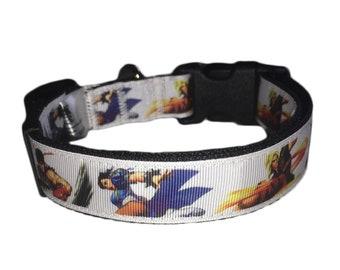 Street Fighter Streetfighter Chun-Li Chunli Ken Ryu Adjustable Dog Collar And Lead Leash 30th Anniversary Gaming Classic Licensed Arcade