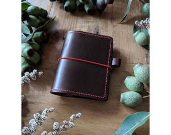 Passport Coffee Doodledori Leather Cover Travelers Notebook Style with Inside Pockets, Handstitched Travelers Notebook Journal Cover