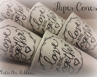 love Being together Paper Cones - Standard Size (9-count) NEW LISTING