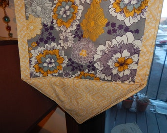 Table Runner- Purple & Yellow Floral