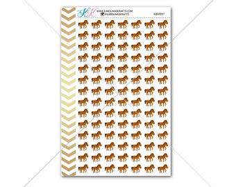 Horses Stickers for planner, calendar! Functional planner stickers animal sticker functional sticker farm animal sticker #SQ00097