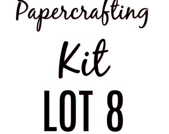 Papercrafting Kit Lot 8