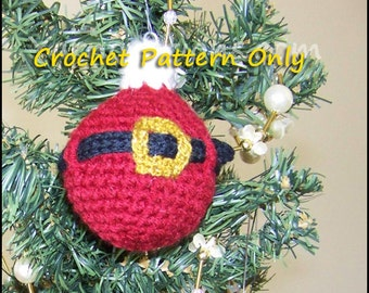 Santa & Friends Christmas Ball Christmas Ornament - Crochet Pattern