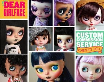 OOAK Custom Blythe Art Doll Commission Spot by Dear Girlface Dolls - COMPLETE DOLL