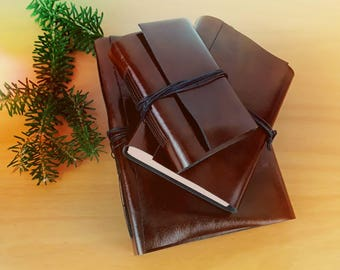 Leather wrap around blank journal-leather cover hand bound journal-note book-sketch book