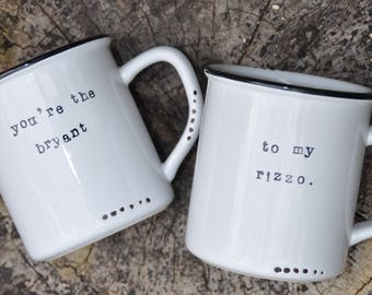 Couples mugs wedding gift his and hers mugs couples gift coffee mug couples mug set anniversary gift best friend mugs chicago cubs