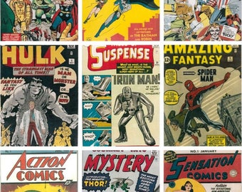 T-shirt of Comic Book Covers First Appearance of Super Heroes
