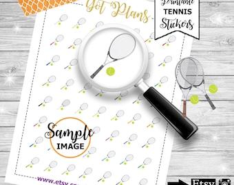 Tennis Stickers, Tennis Planner Stickers, Tennis Printable Stickers, Stickers for Planners