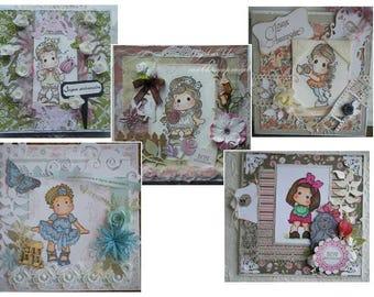 lot de 5 tutoriel pour cartes créatives Magnolia style shabby chic