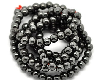 Hematite Beads Healing Beads Nonmagnetic 6mm  Choose 1 Strand 5 Strands or 10 Strands 3996
